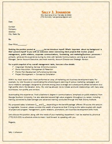 Cover letter for telephone fundraising job