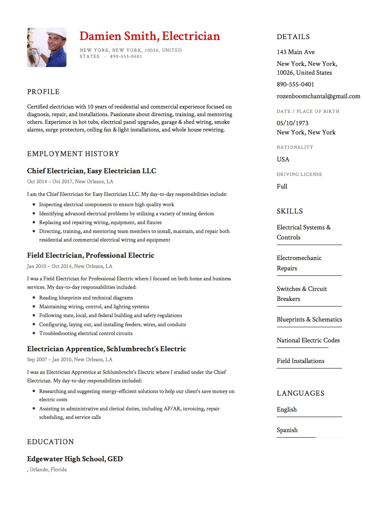 Meter Reader Cover Letter Example