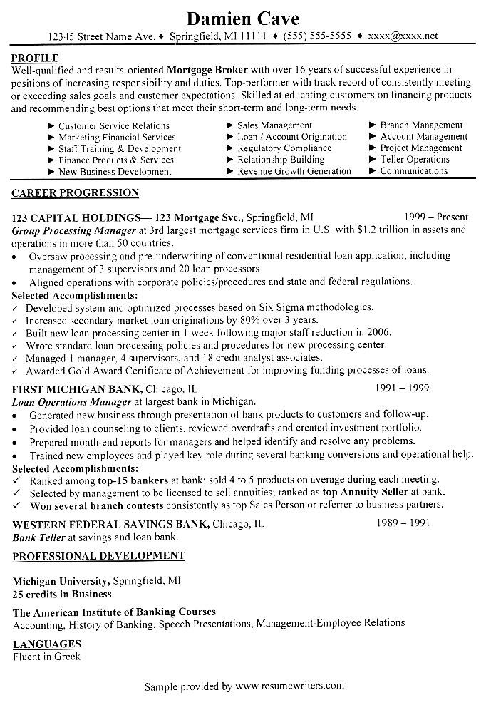broker resume mortgage broker sample resume mortgage broker resume