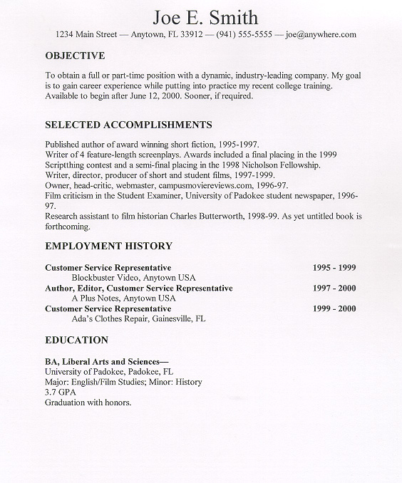 Find Me A Sample Resume. Sample Resumes From Resume Writing