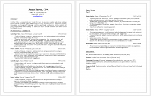 Resume sample public accounting