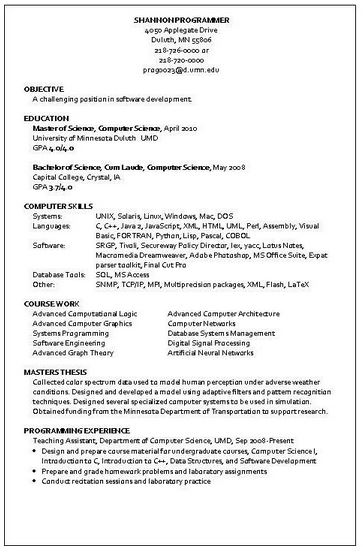 Sample Programmer Resume - Resume Sample