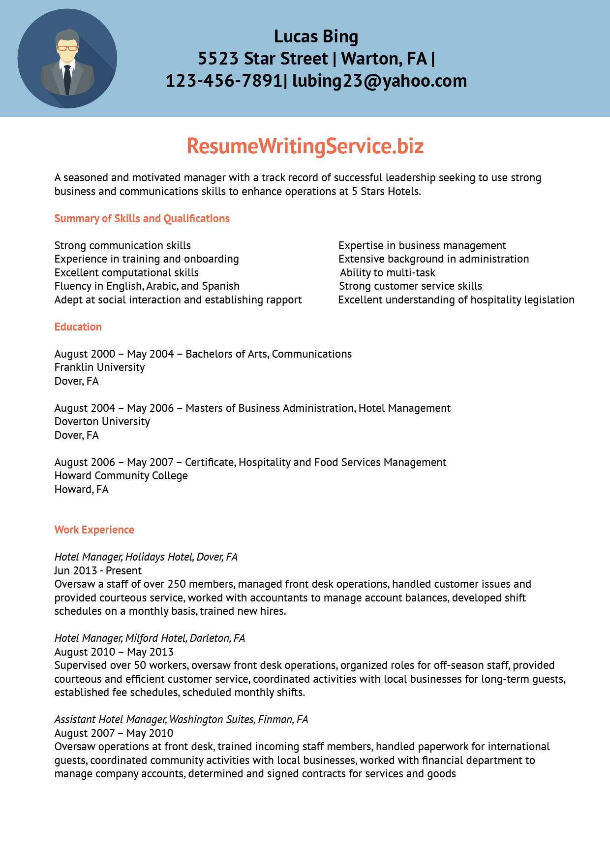 oversaw in a resume