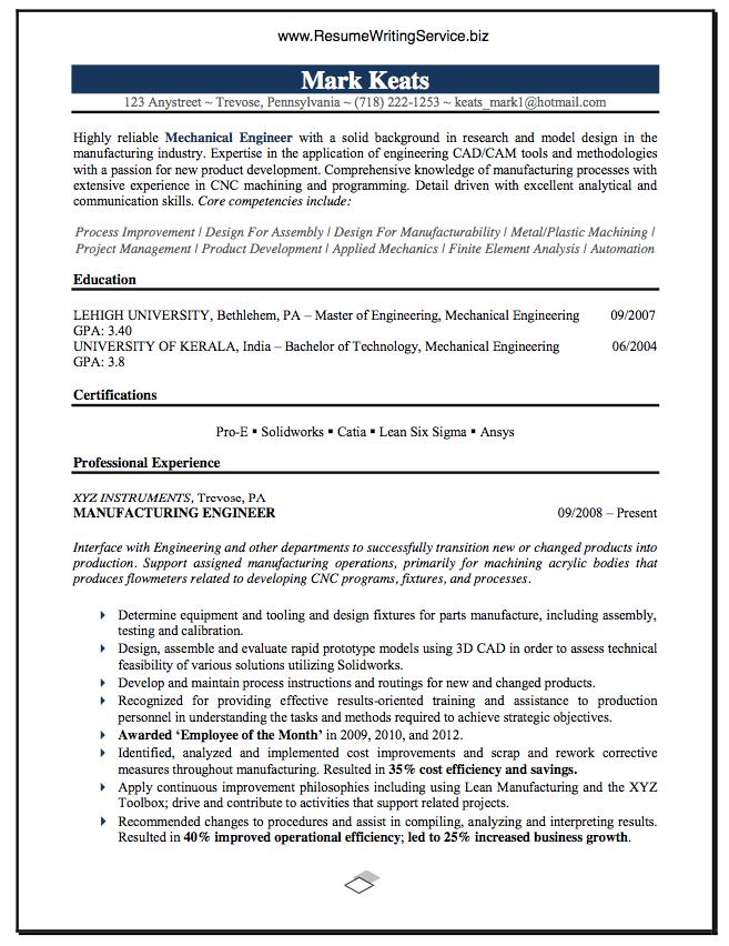 see mechanical engineer resume sample here resume writing service