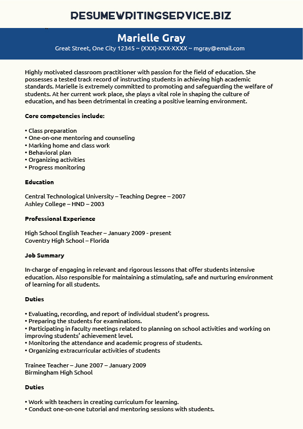 Education Section On Resume In Progress