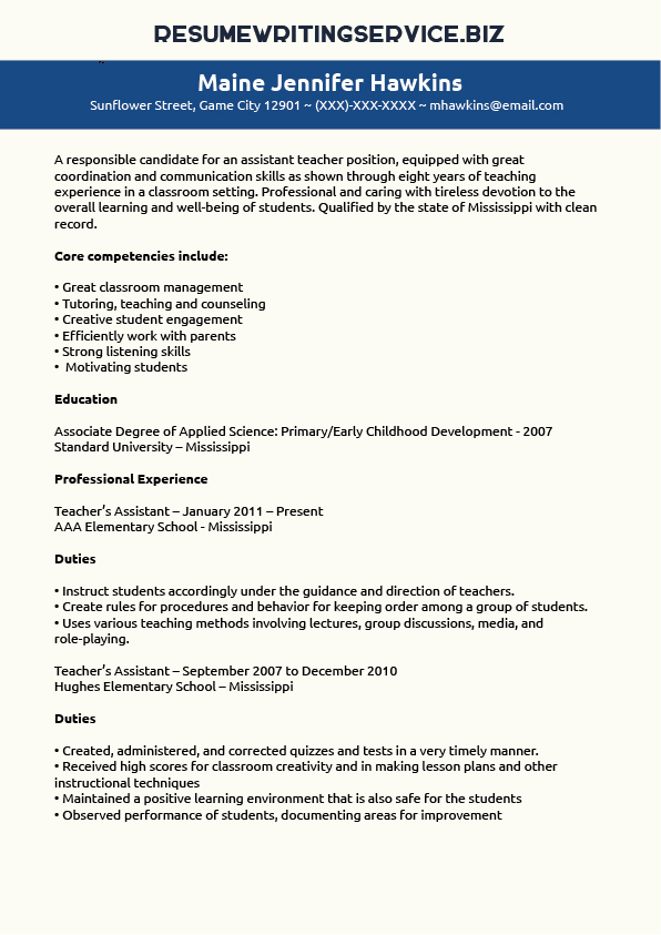 Accounting assistant resume template - Free - Dayjob