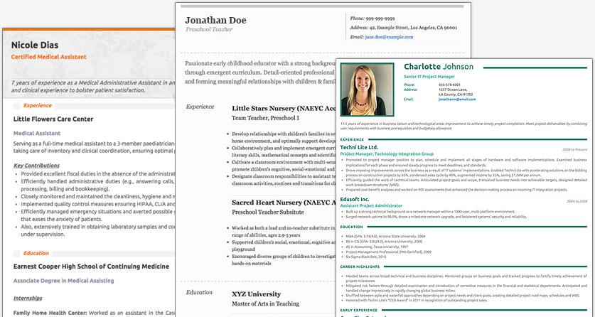 online resume builder and templates cv maker resumonk