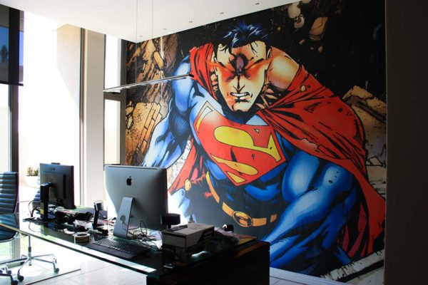 Superman comic printed digital wallpaper