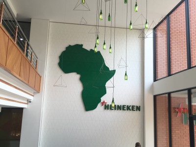 Custom feature wall signage - Heineken