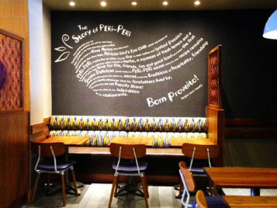 nandos printed wallpaper mural design