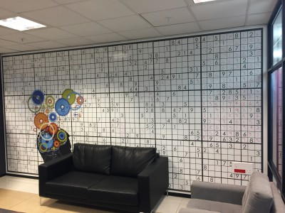 Writable whiteboard custom sudoku wall