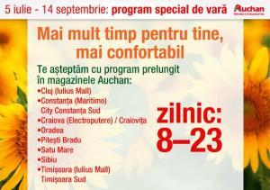 Auchan Romania Program special vara-orase