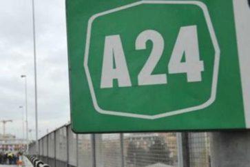 A24: lavori e chiusure. Leggi dove.