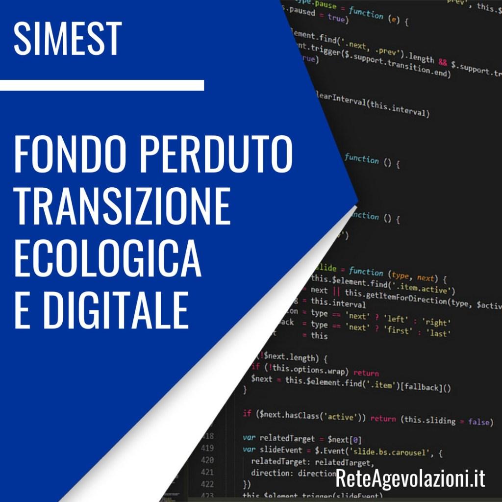 simest transizione ecologica e digitale