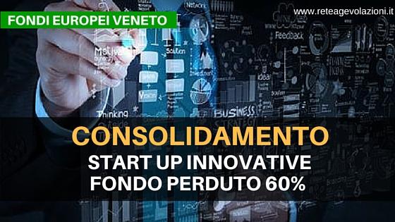start up INNOVATIVE veneto CONSOLIDAMENTO