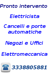 Pronto Intervento Elettricista