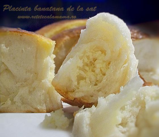 Placinta banatana de la sat, placinta cu branza, sectiune