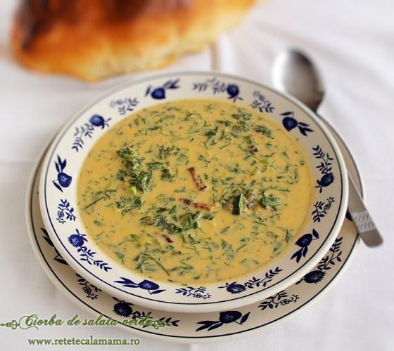 ciorba de salata verde, reteta ciorba de salata verde