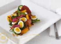 salată de leurdă cu loboda și oua de prepeliță