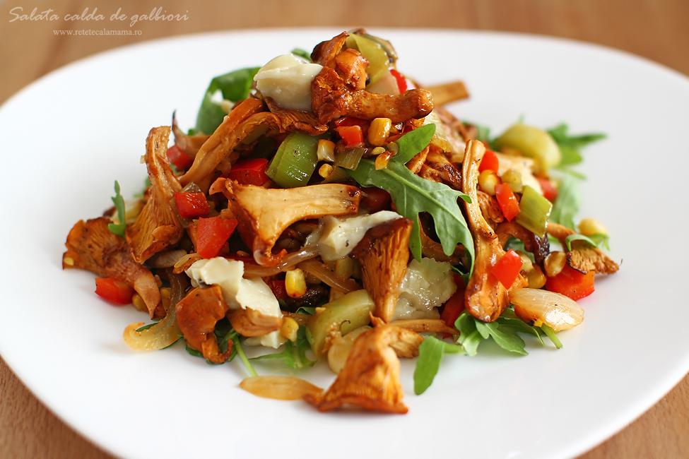 salata calda de galbiori 1
