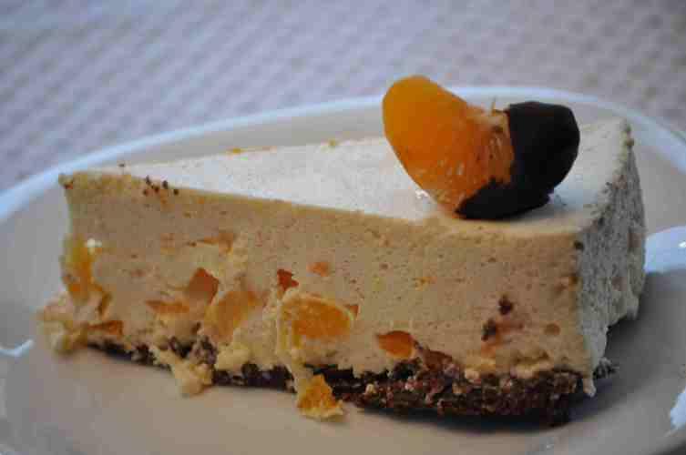 Cheese cake cu mandarine si ciocolata