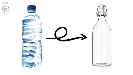 10 passi: bottiglia di vetro