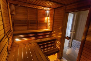 a cozy sauna cabin