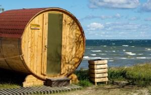 outdoor sauna cabin