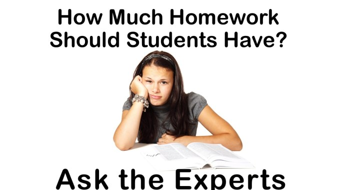 should students have to do homework