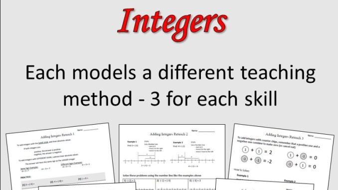 related adding integers - Adding Integers Worksheet
