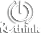 Rethink logo wit