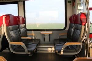 Stoelbekleding in trein
