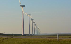 Afbeelding van windmolens, duurzame energie