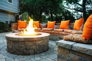 a nice customized fire pit as one of the landscaping tips