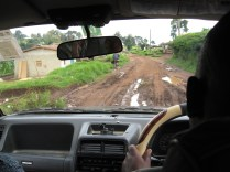 Muddy roads driving to Rethy.