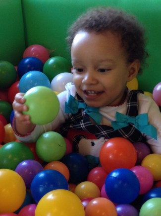 Baby29 in Ball Pit