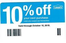 Lowes 10% Off Coupon
