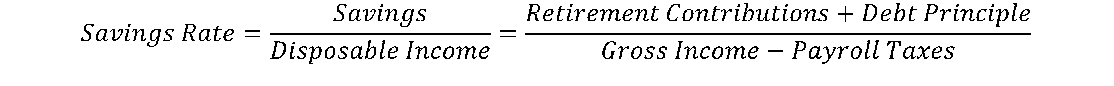 savings-rate-equation