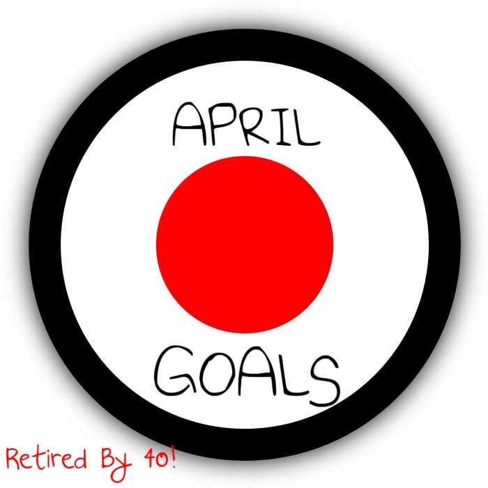 April Goals/Budget Update