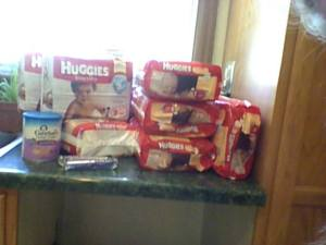 $93 of DIAPERS and formula for $37.  Savings Rate = 63%