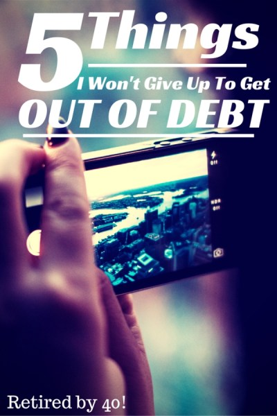give up to get out of debt