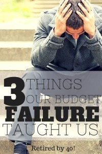 things our budget failure taught us