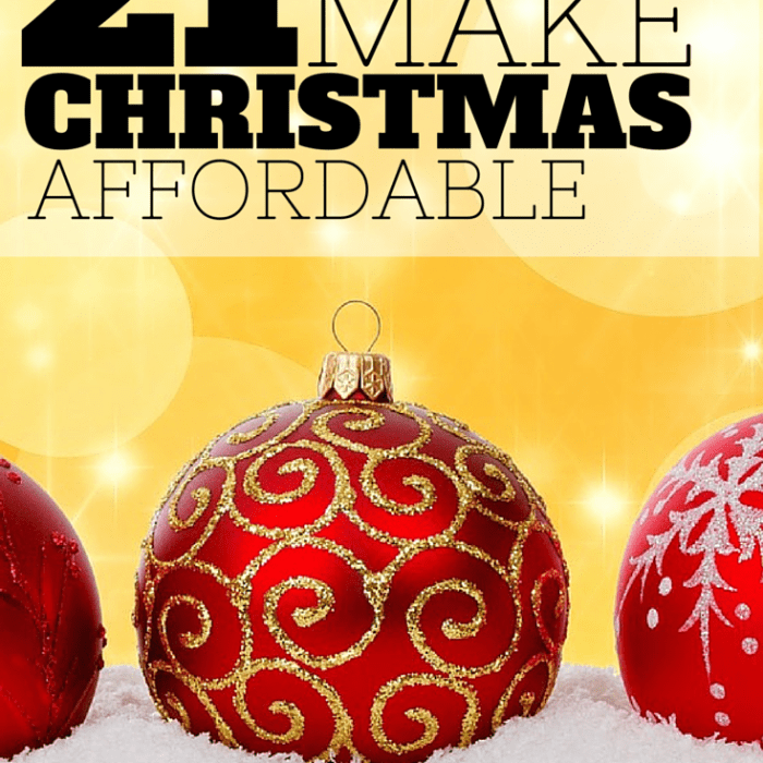 21 Ways to Make Christmas Affordable