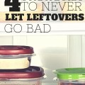 We've been doing so well at eating all of our leftover, my mother in law was concerned about our financial situation when she looked in our fridge! Want to learn how we did it? Read on!