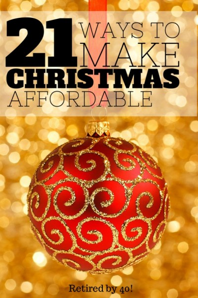 make Christmas affordable