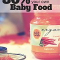 Think making your own baby food is hard? Think again! This first time mom managed it, and developed some helpful tips along the way - plus she saved 80% over the store cost of baby food in the process!