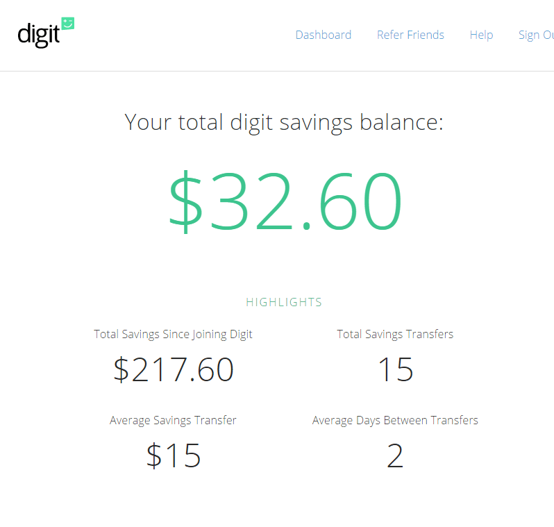 Digit: The Ultimate Saving Money Tool