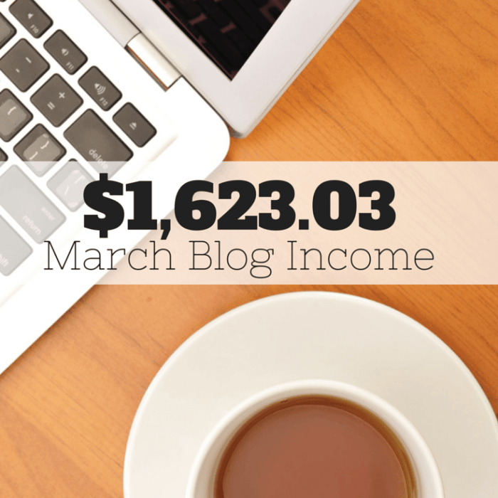 Traffic & Blog Income Report – March 2015