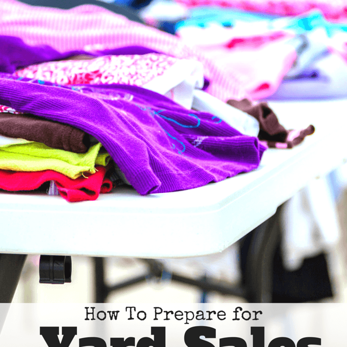 How to Prepare for Yard Sales