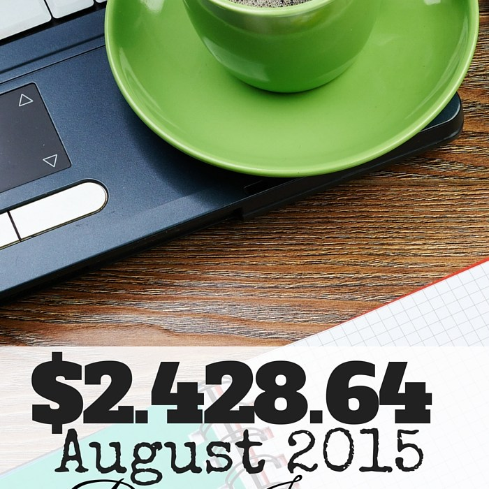 August 2015 Blog Income & Traffic Report